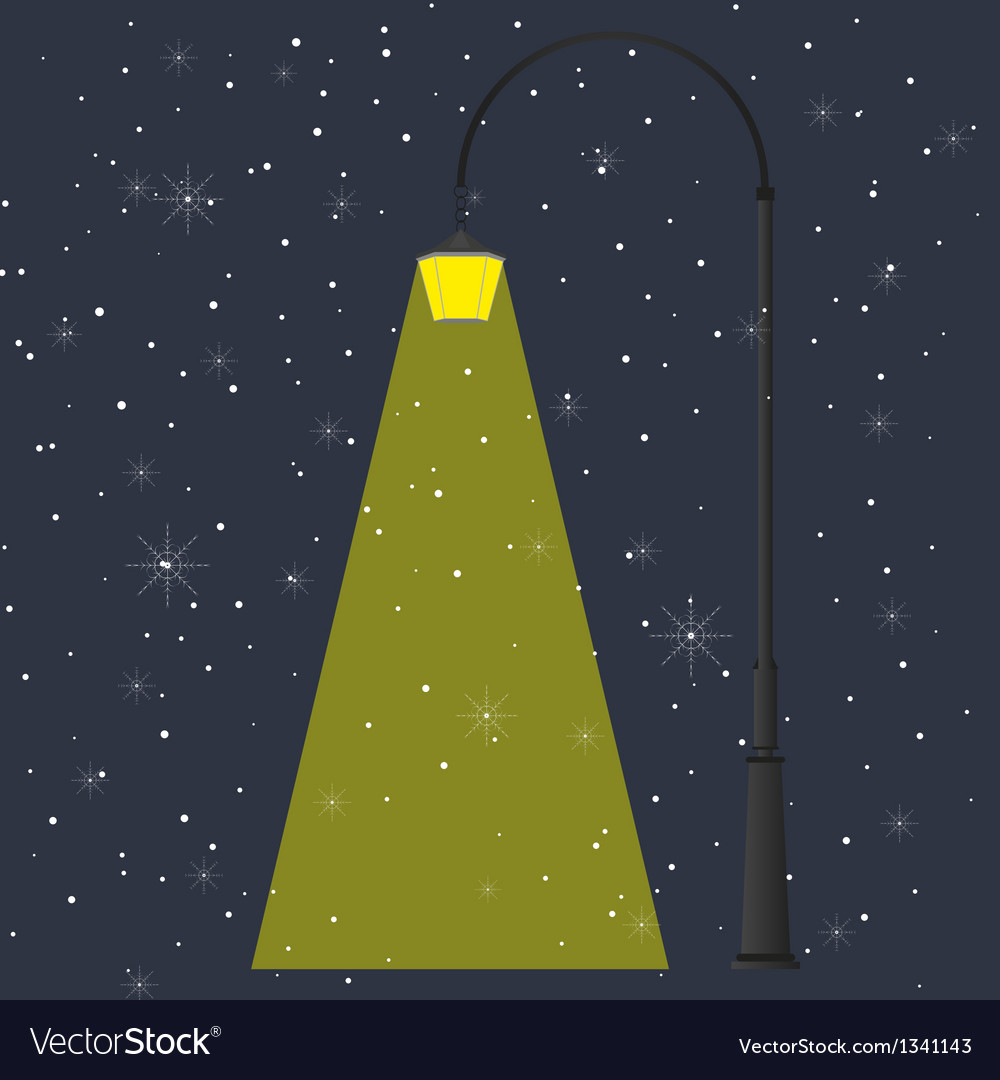 Flashlight and night vector image