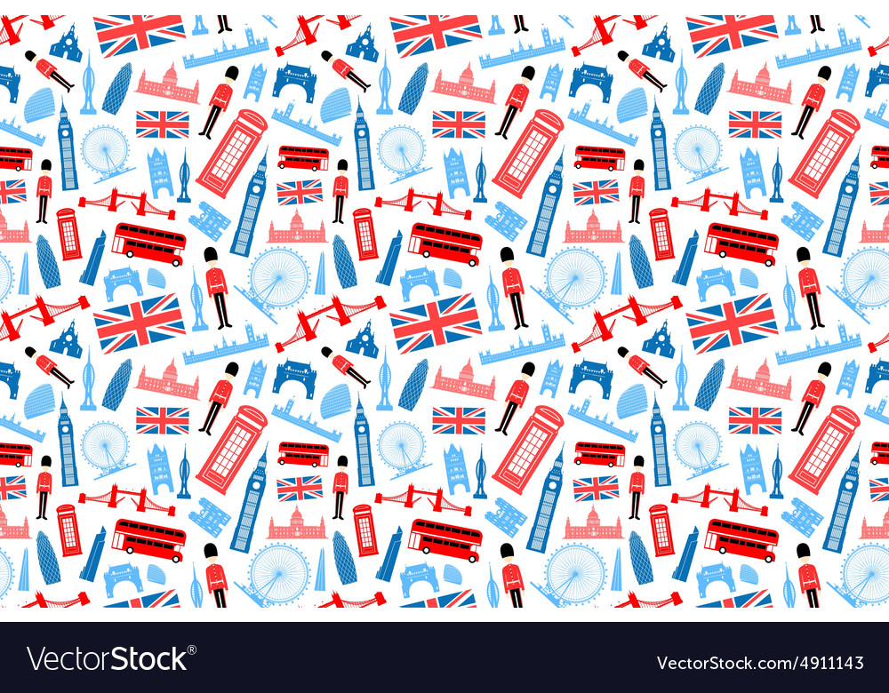 London England Seamless Pattern