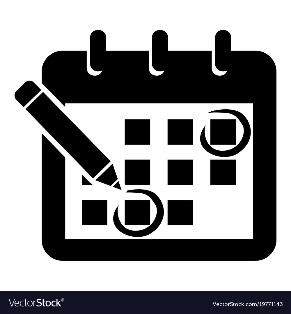 Mark Calendar Icon Simple Style Royalty Free Vector Image