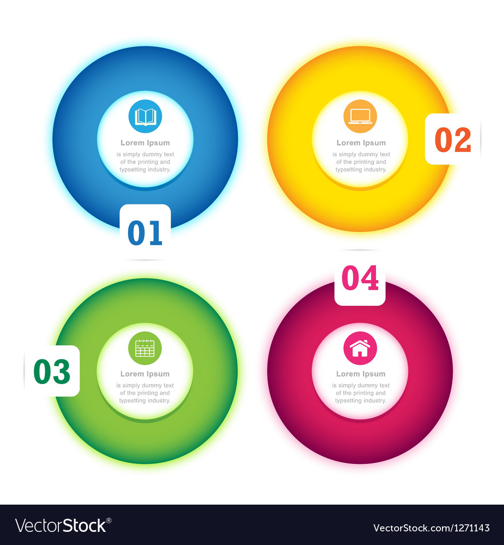 Modern Circle Design full color template
