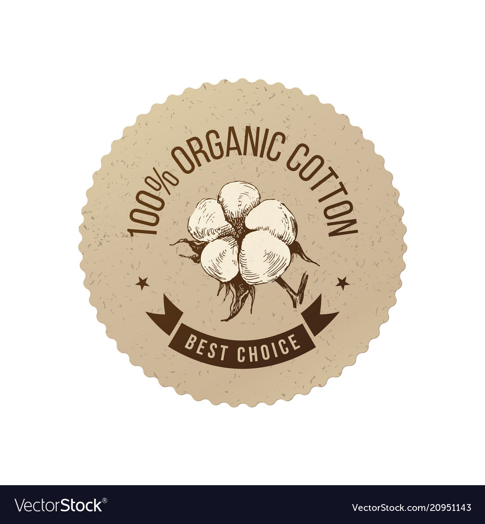 Organic cotton emblem