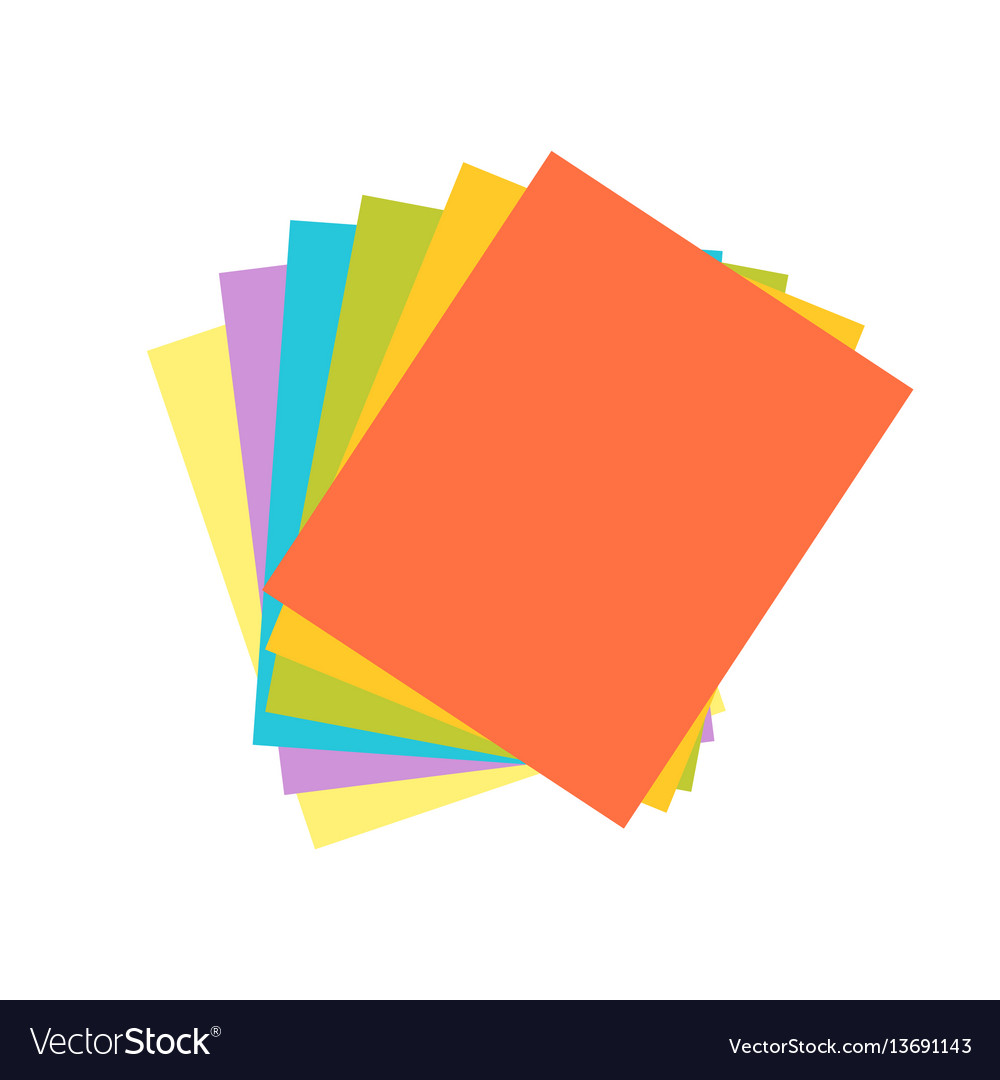 Origami colored paper abstract icon craft symbol