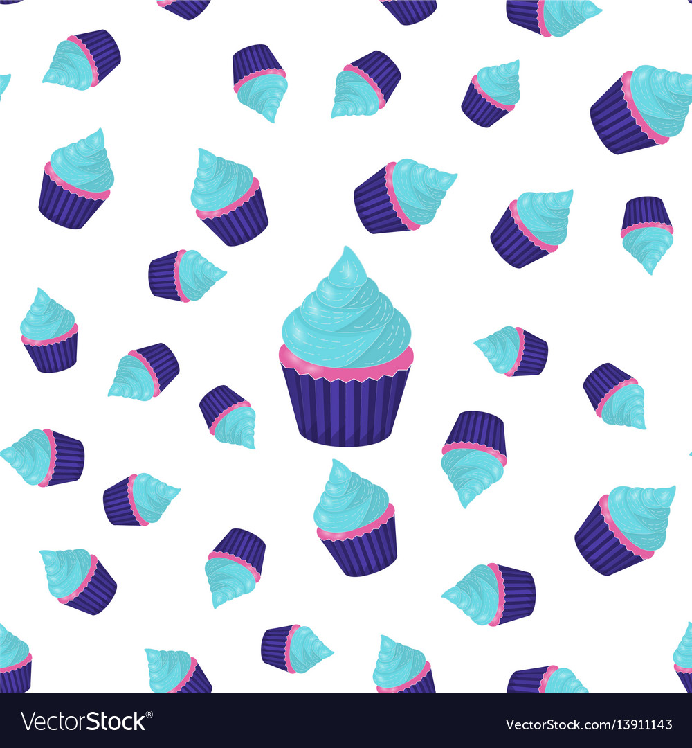 Seamless pattern cupcake