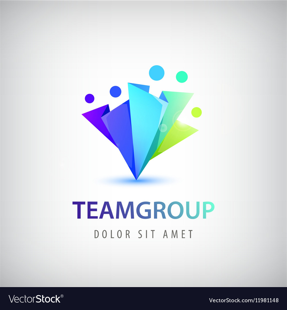 Abstract stylized family team lead icon