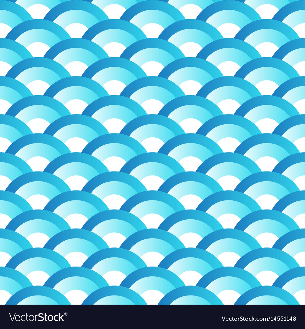 Blue wave japanese style seamlesss pattern