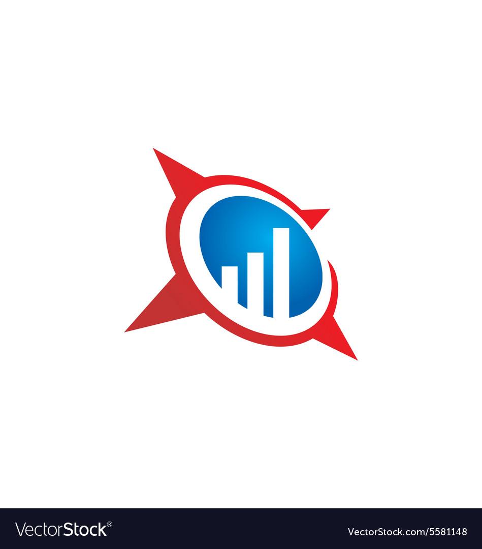 Business finance chart star logo