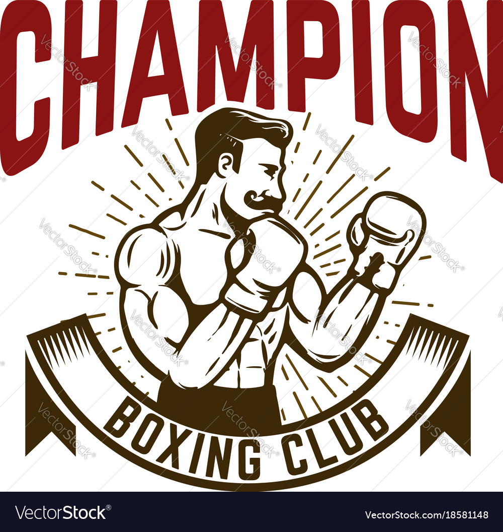 Champion boxing club vintage style boxer fighter
