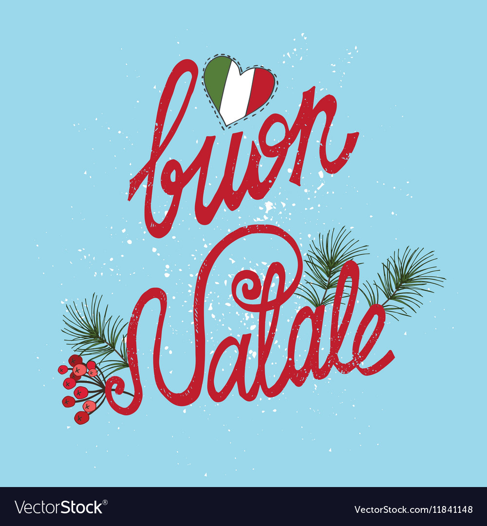 Italian Christmasnatalehandwriting Titlesprice Vector Image