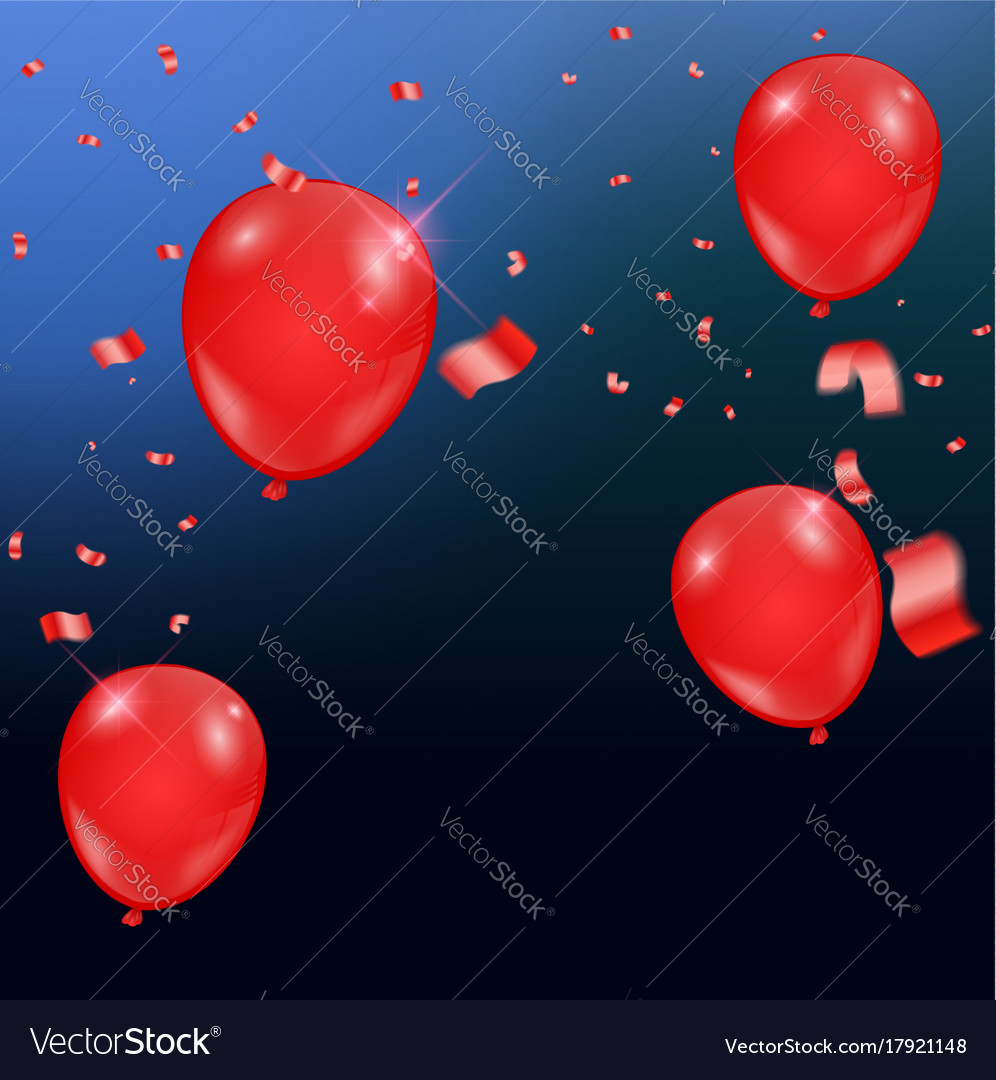 Templates of a celebration of the red balloons