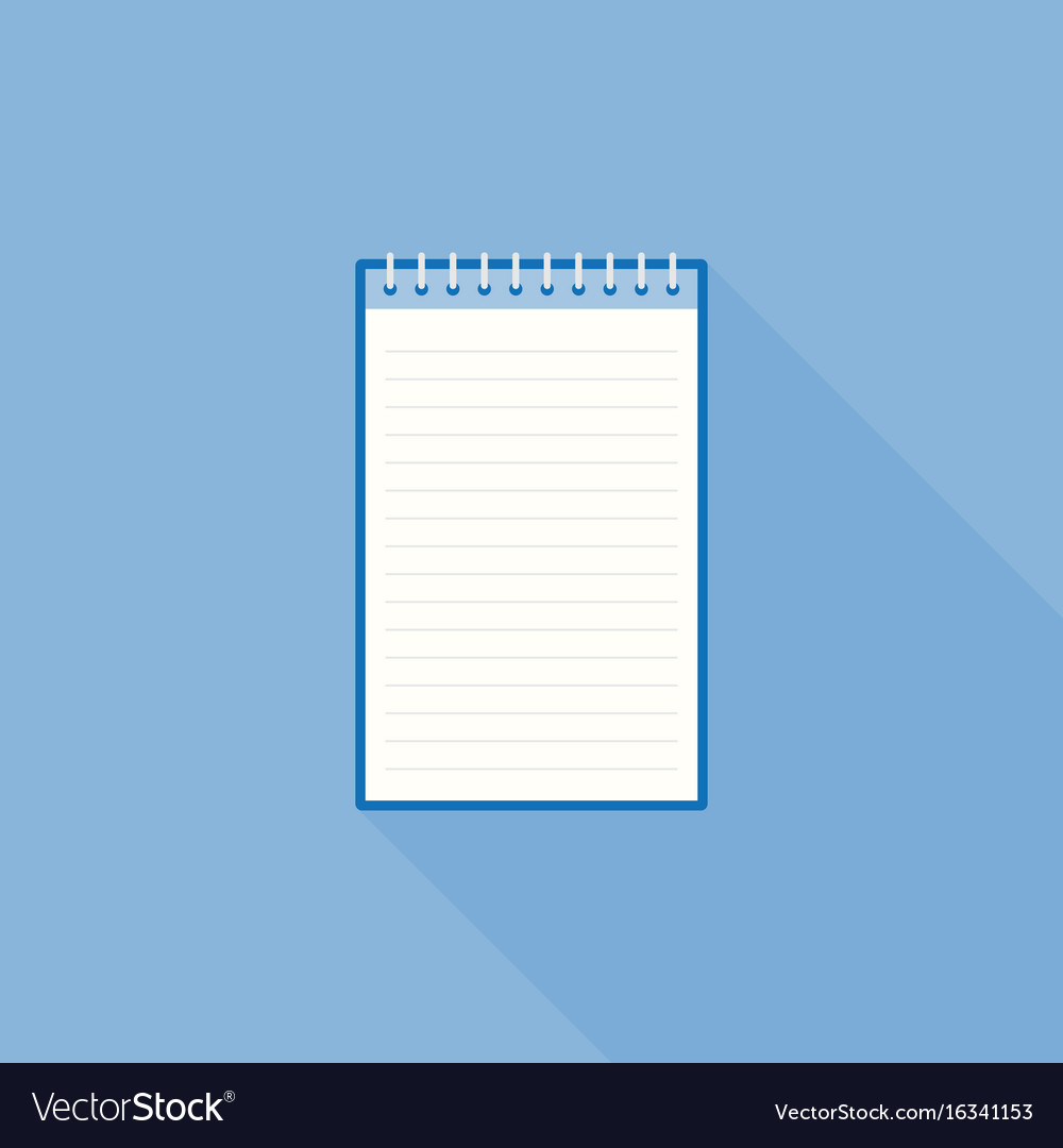 Blank line notebook paper icon template