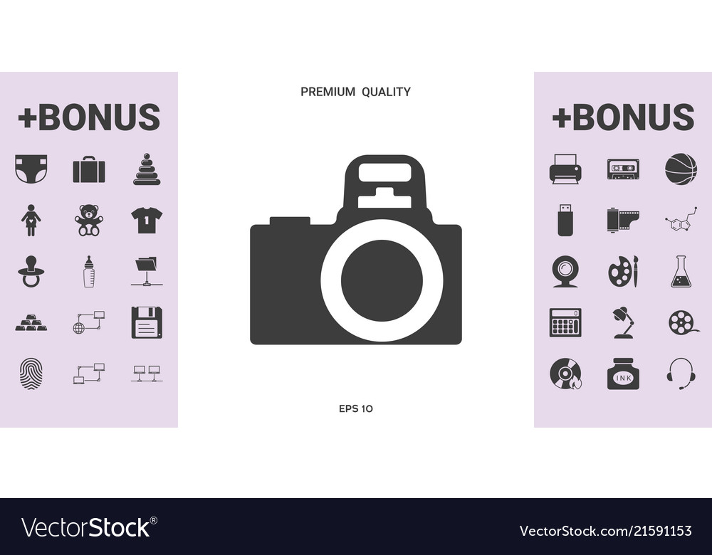 Camera Symbol Icon Graphic Elements For Your Vector Image
