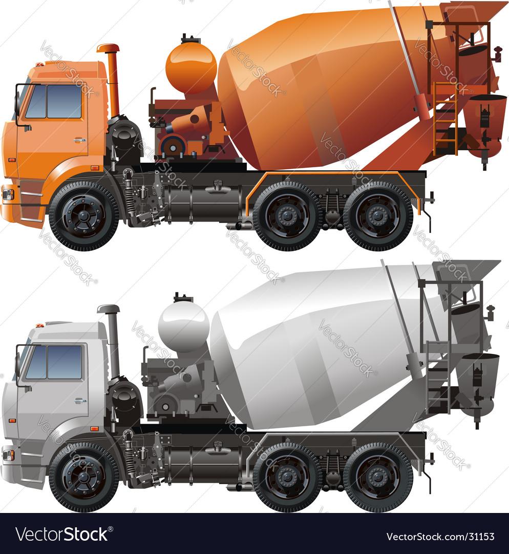 cement truck royalty free vector image vectorstock