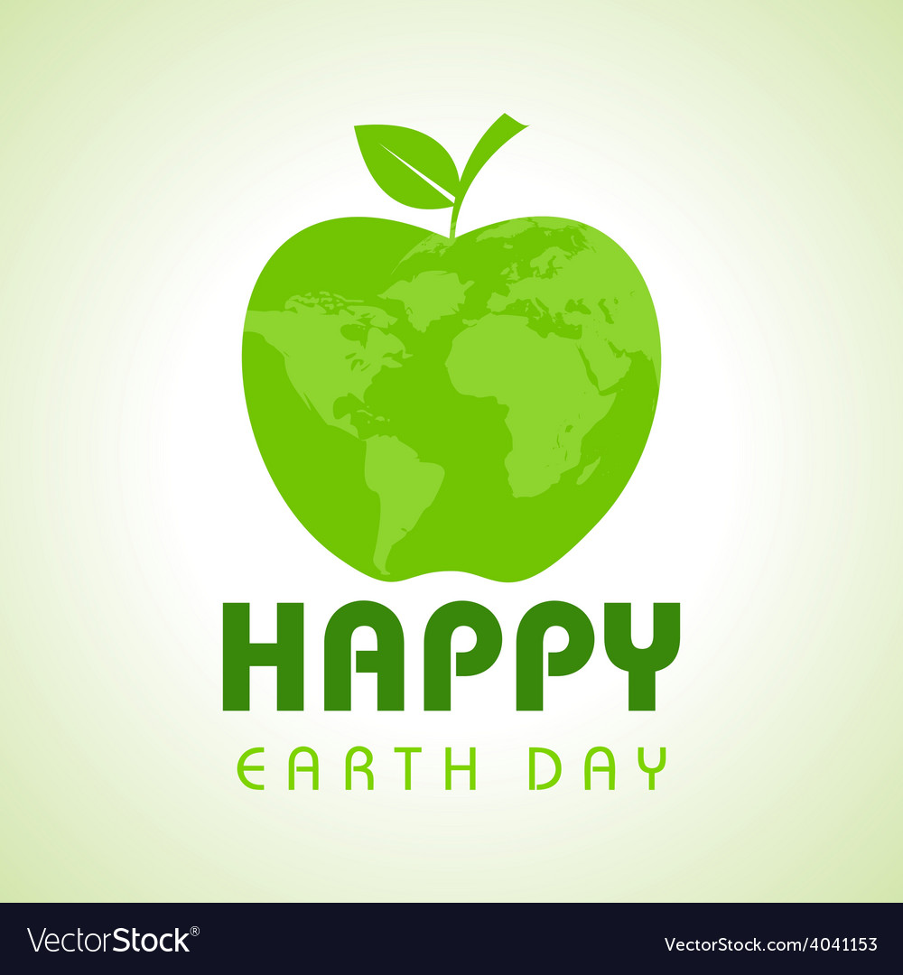 Creative Happy Earth Day Greeting stock vector image