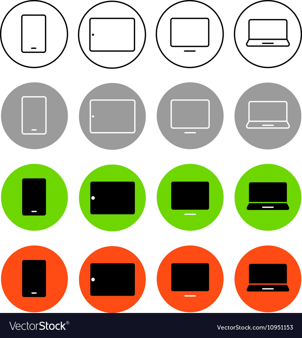 Different style trendy interface icons set