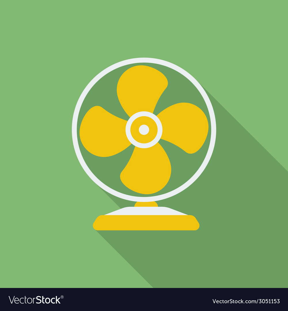 Fan or ventilator icon Modern Flat style with a