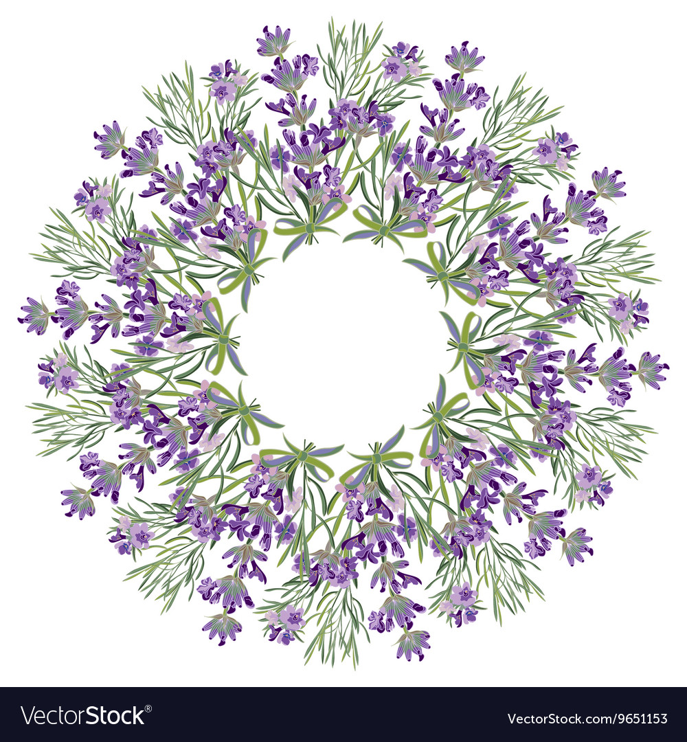 Hand drawing lavender floral mandala zentangle