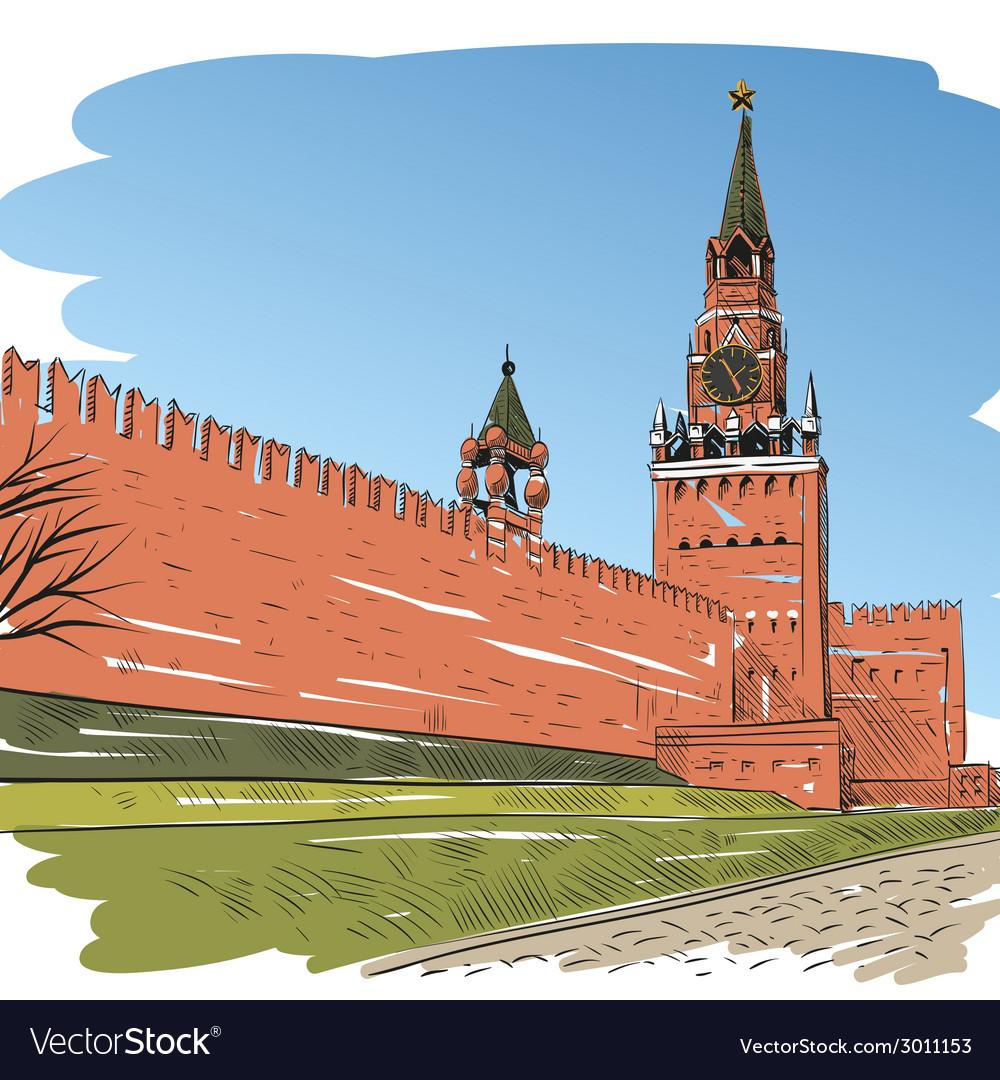 картинки красной площади в москве карандашом потоком