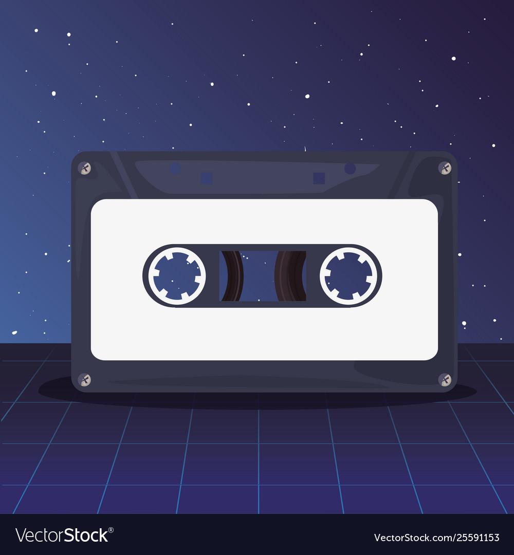 Music cassette retro 80s