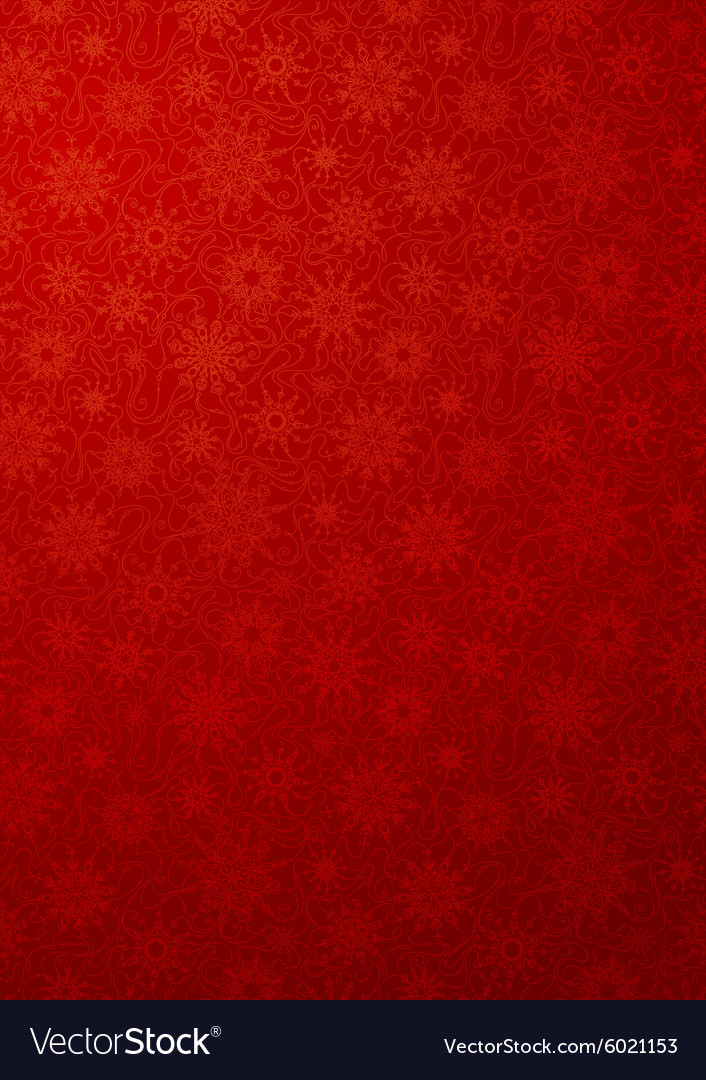 Red wallpaper with snowflakes vector image