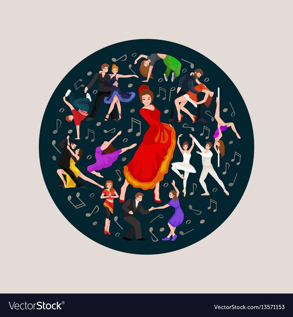 Spanish girl flamenco dancer in red dress