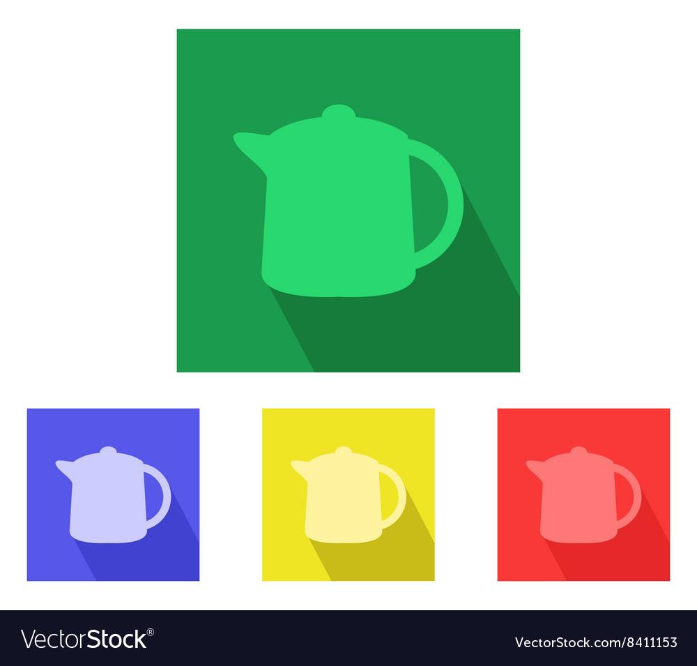 Teapot on white background