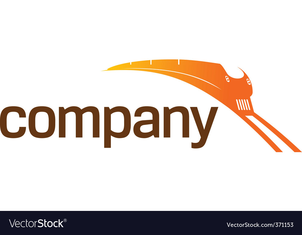 Train transportation logo vector image