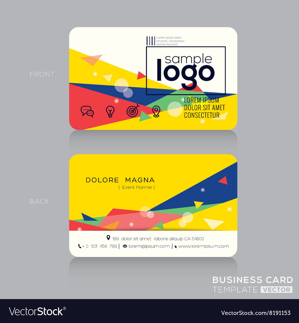 Trendy business card design template
