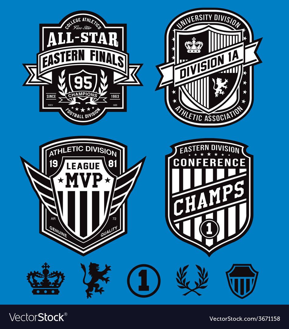 Athletic crest emblems