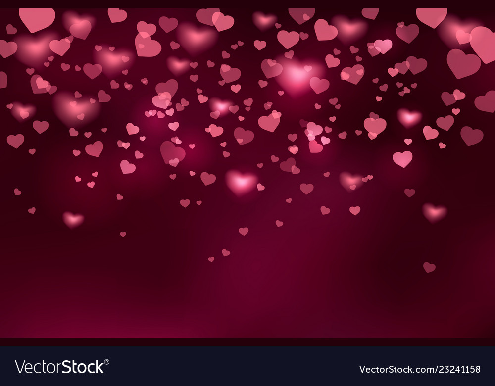 Background with falling hearts