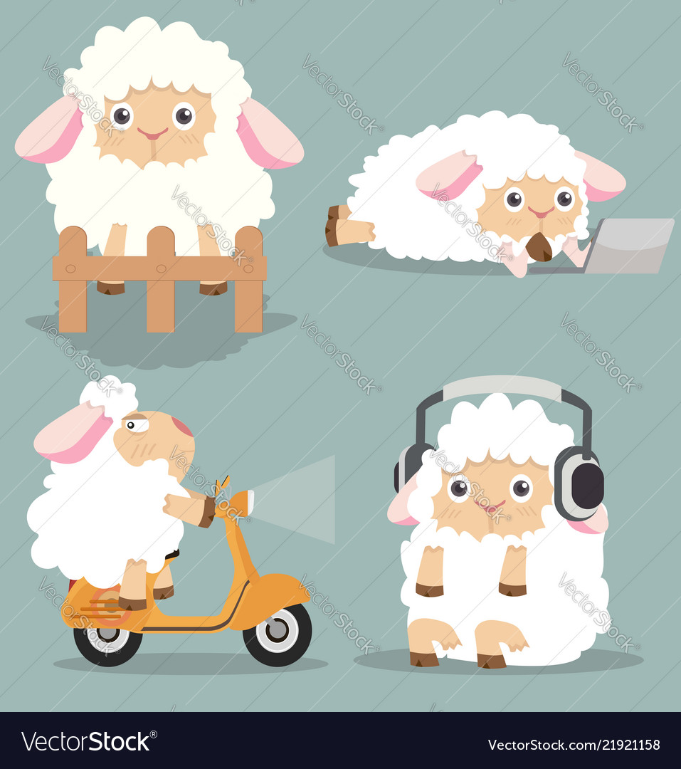 Cute little sheep set
