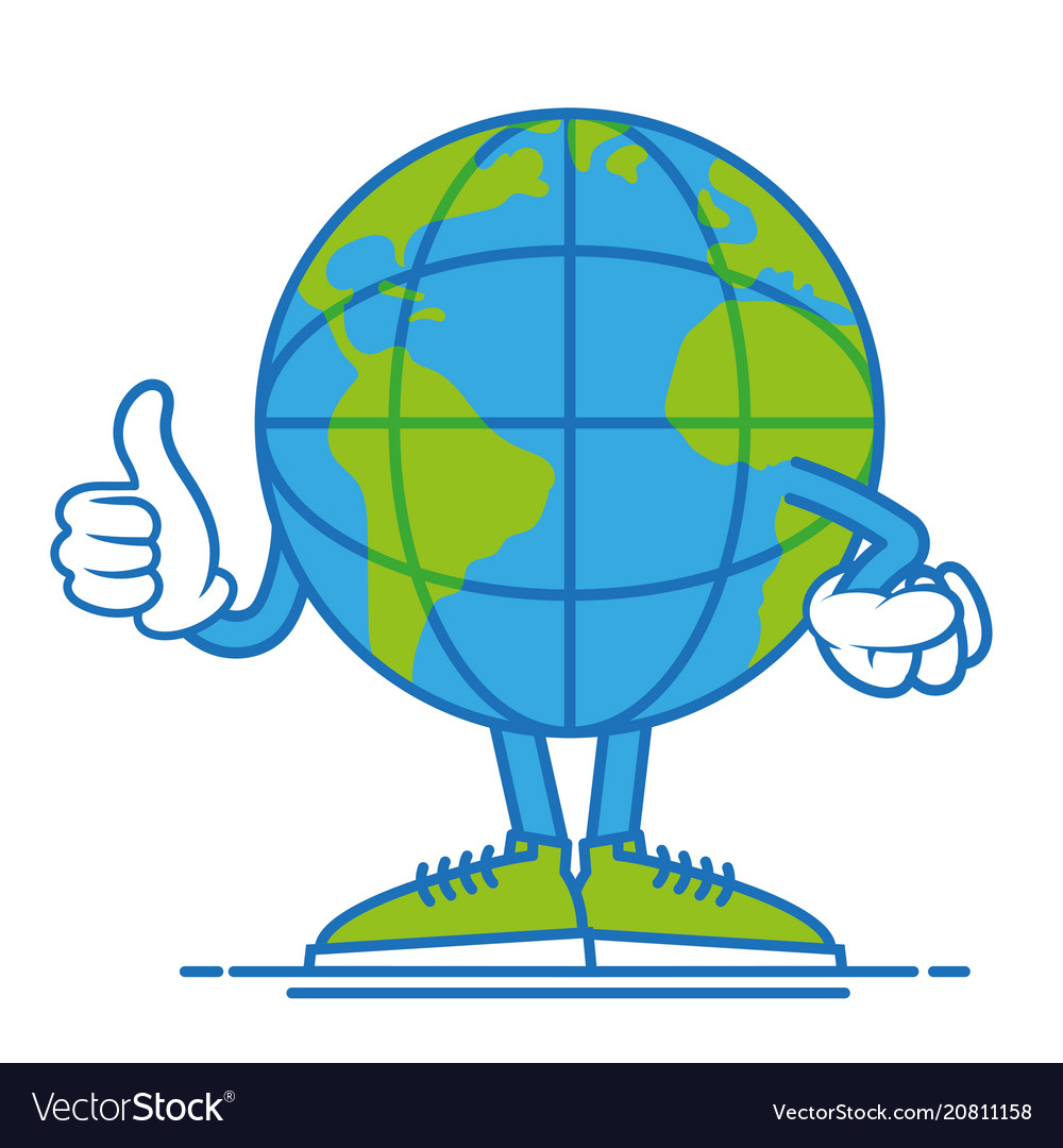 Earth show thump up vector image