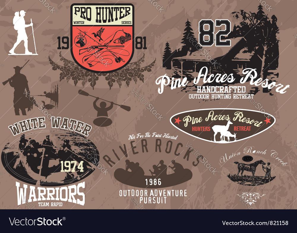 Hunt activities vector image