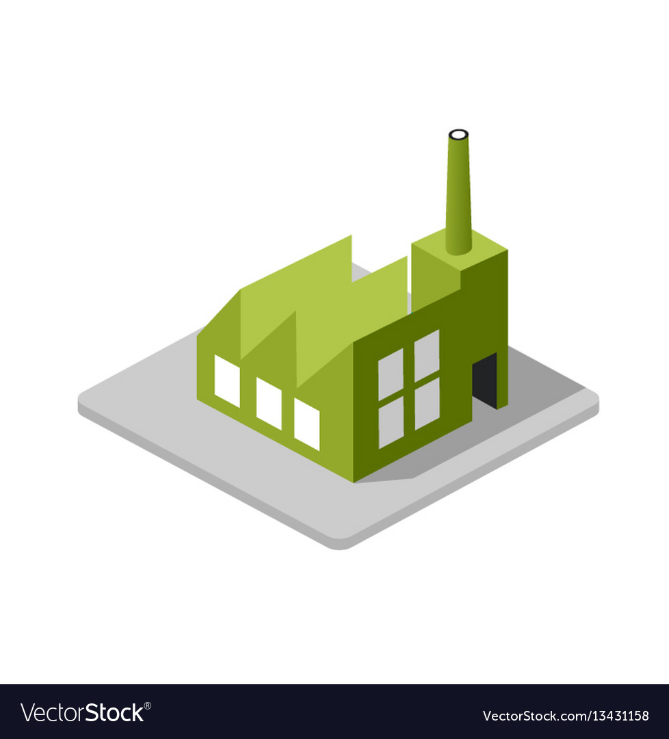 Industrial factory decorative icon