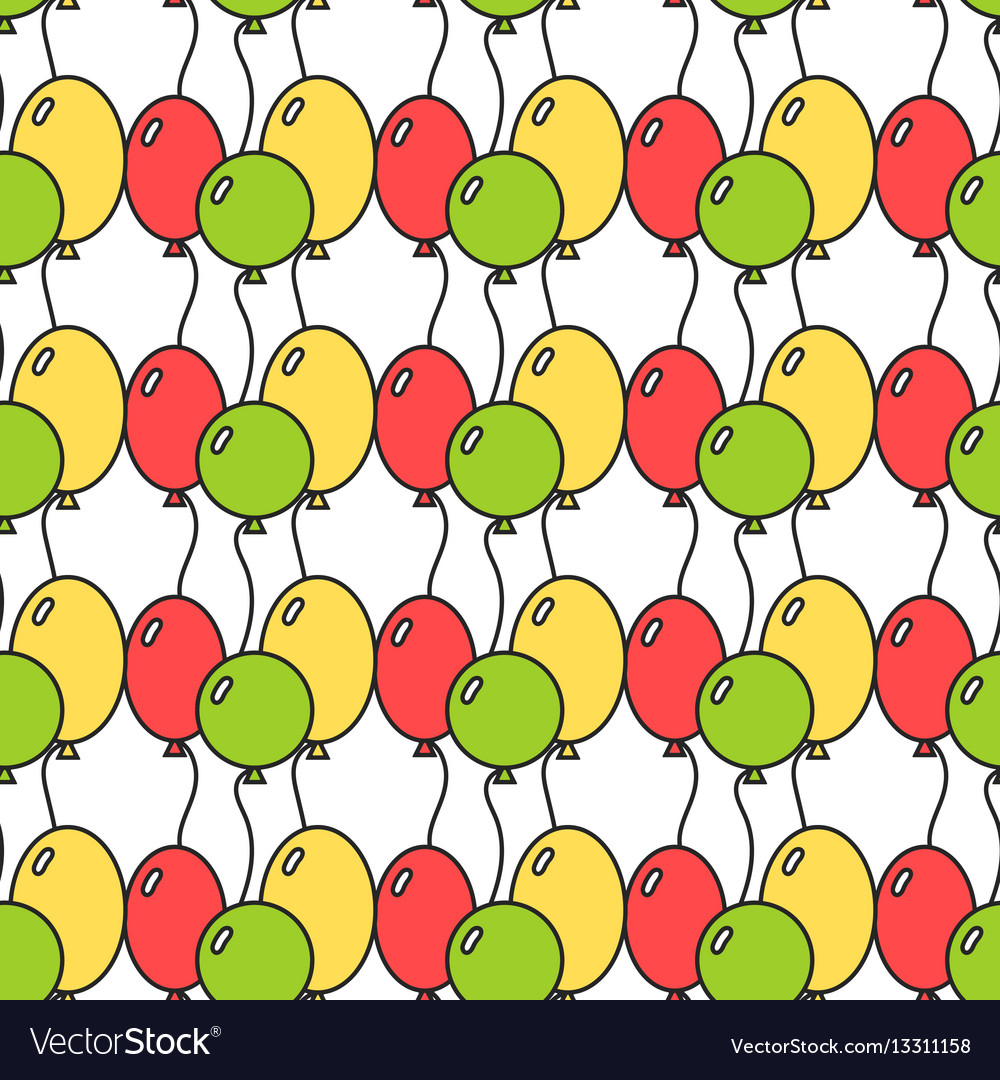 Seamless pattern with colored balloons festive