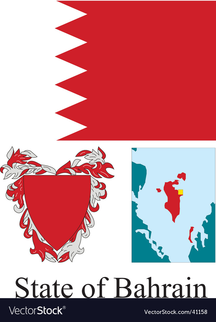 State of bahrain flag