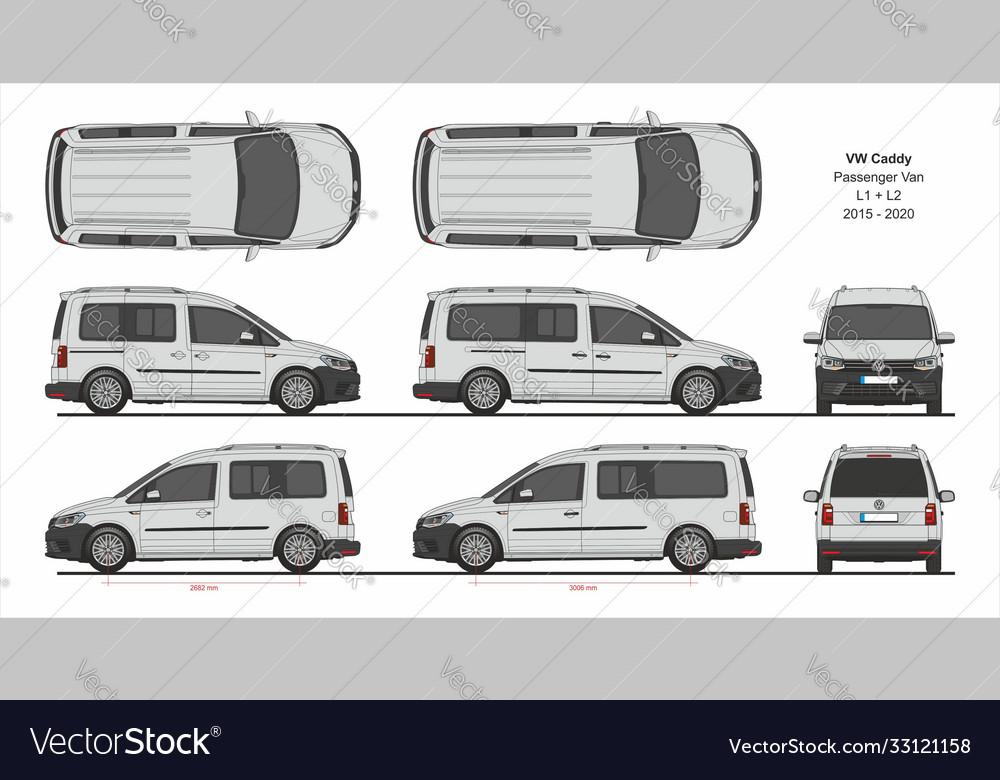 Vw caddy passenger van l1 l2 2015-present