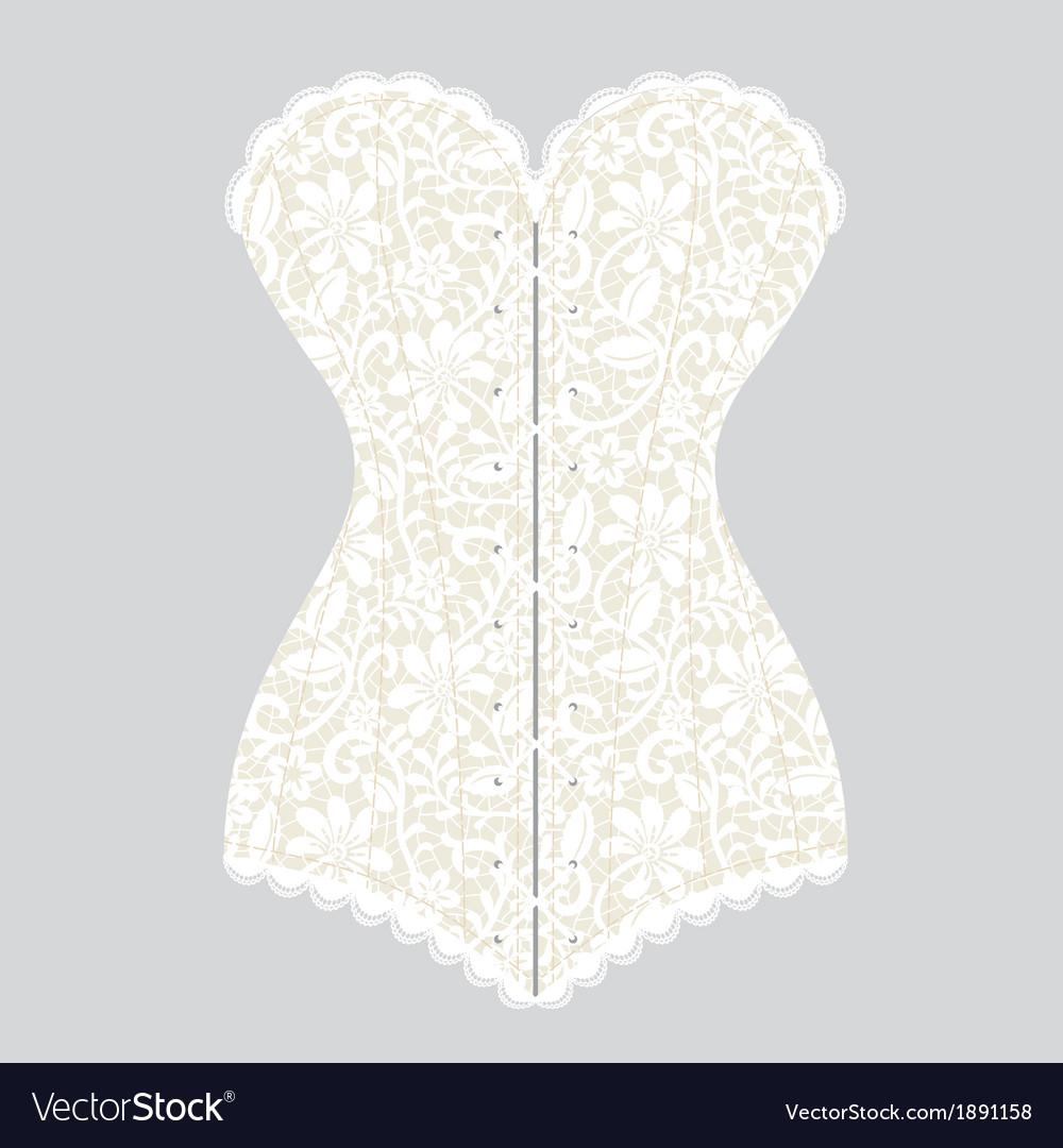 White lace corset corset