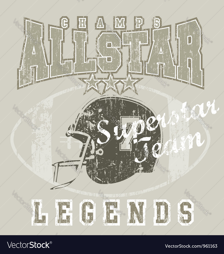 All star FootBall vector image