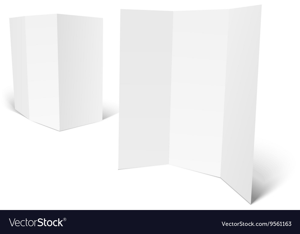 blank white booklet template royalty free vector image