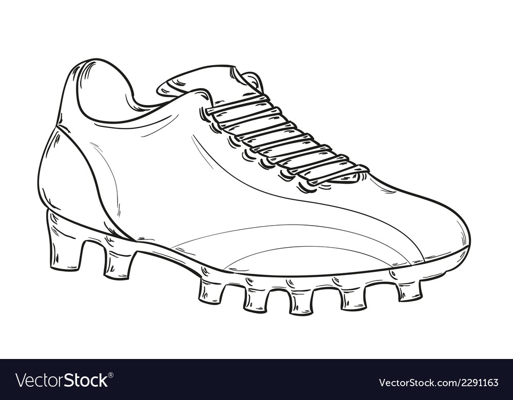 Football boots sketch Royalty Free