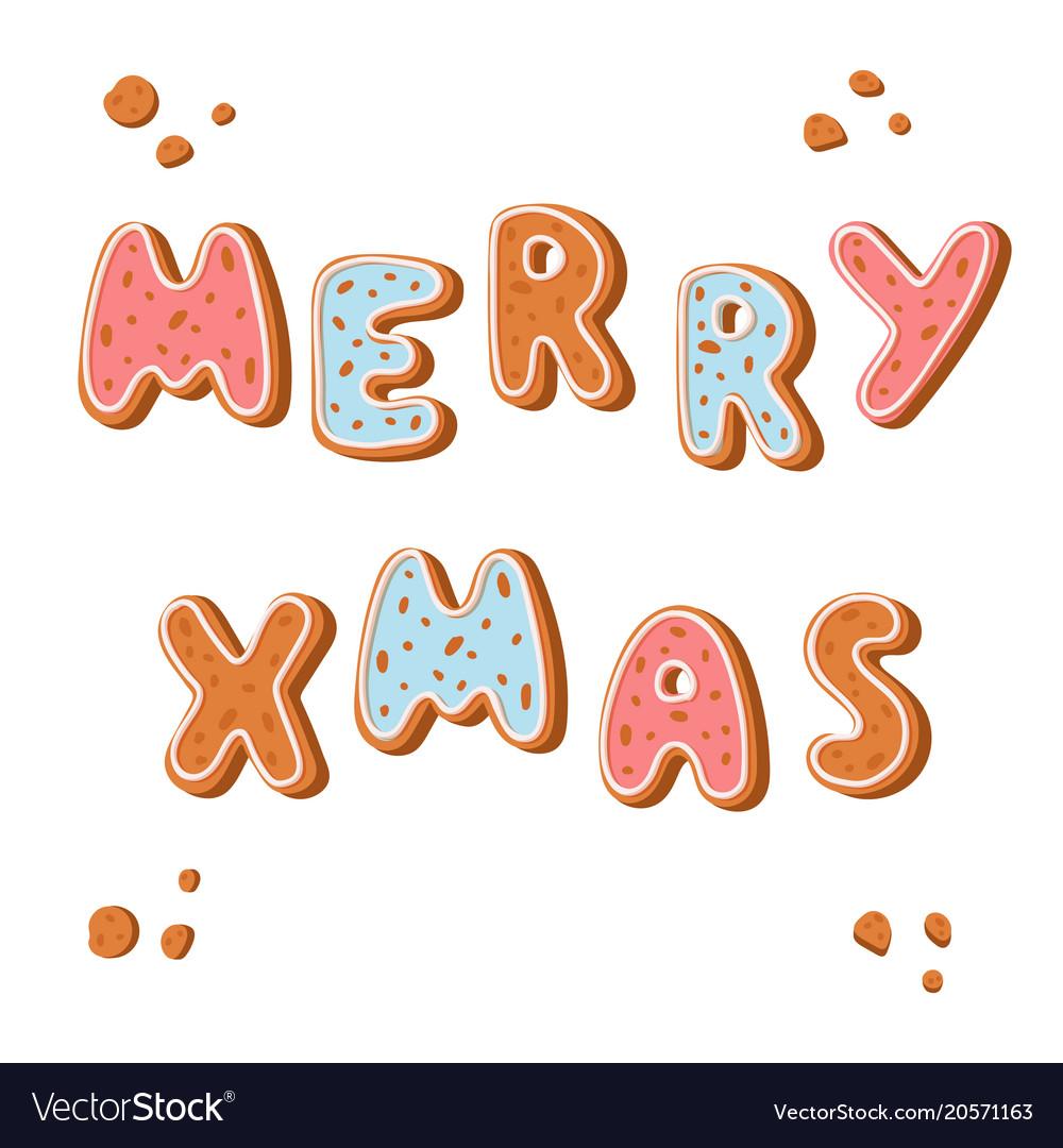 Merry Christmas Gingerbread Cookies