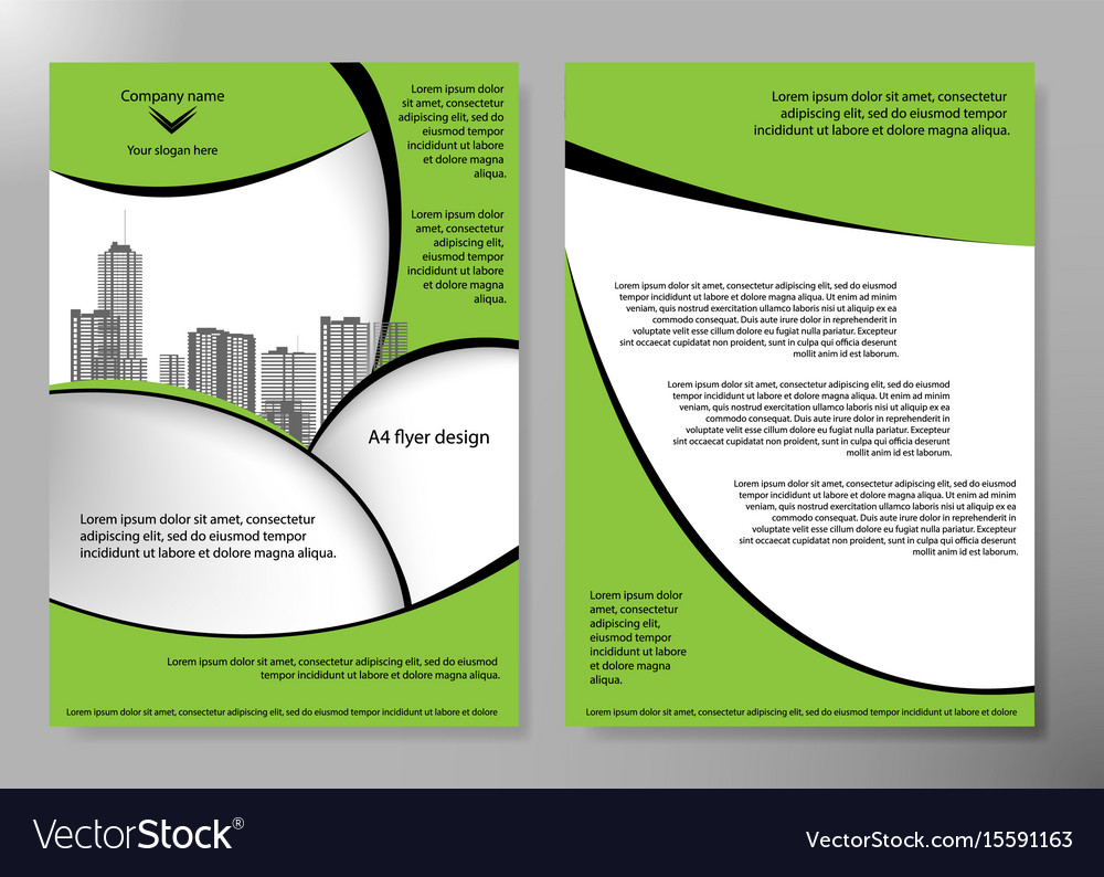 Minimal flyers report business magazine poster