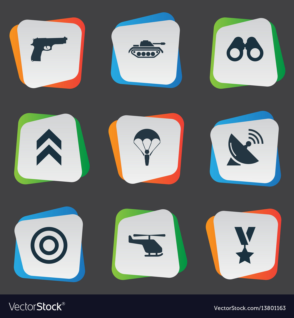 Set of simple war icons