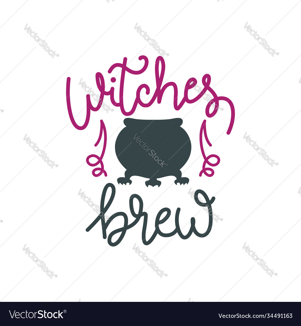 Witches brew hand drawn lettering