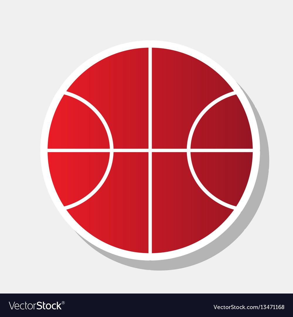 Basketball ball sign new