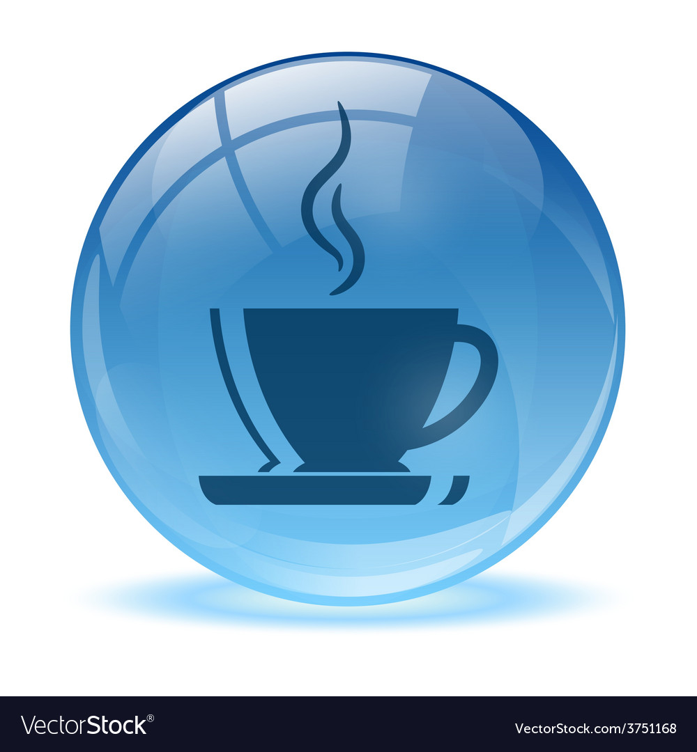 Blue abstract coffee icon