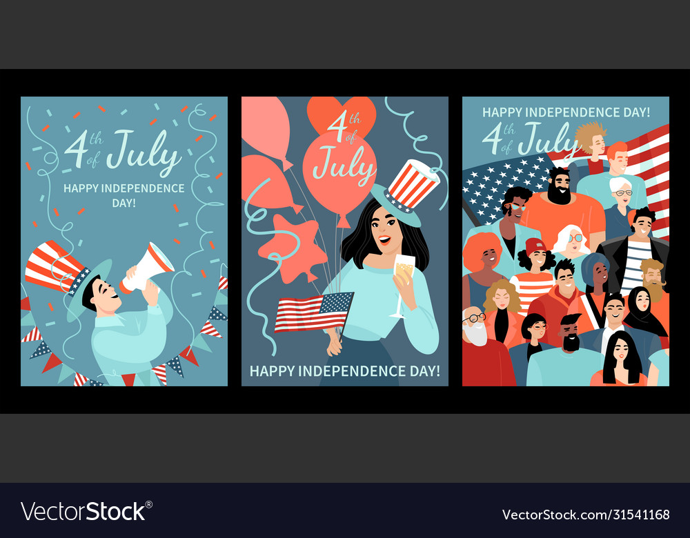 Cards for independence day america