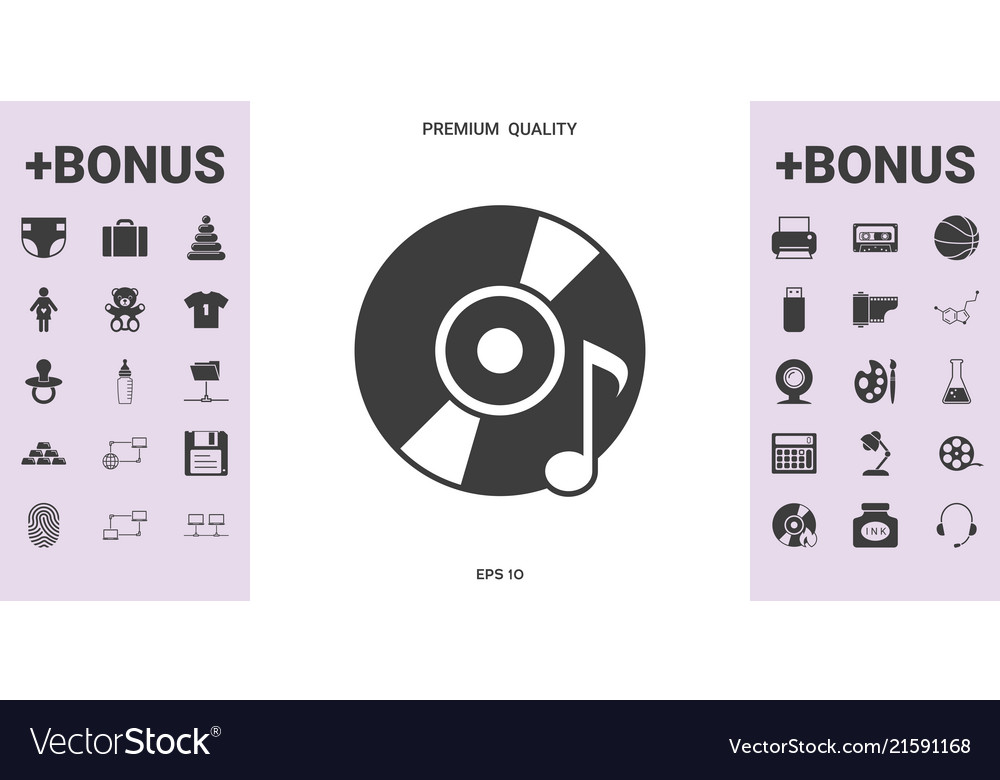 Cd dvd with music symbol - graphic elements for