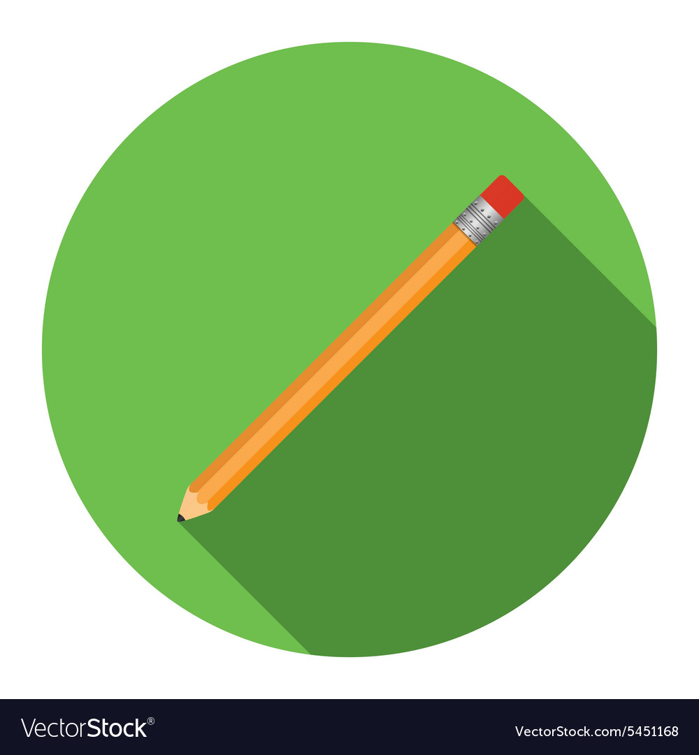 Flat design modern of pensil icon with long shadow