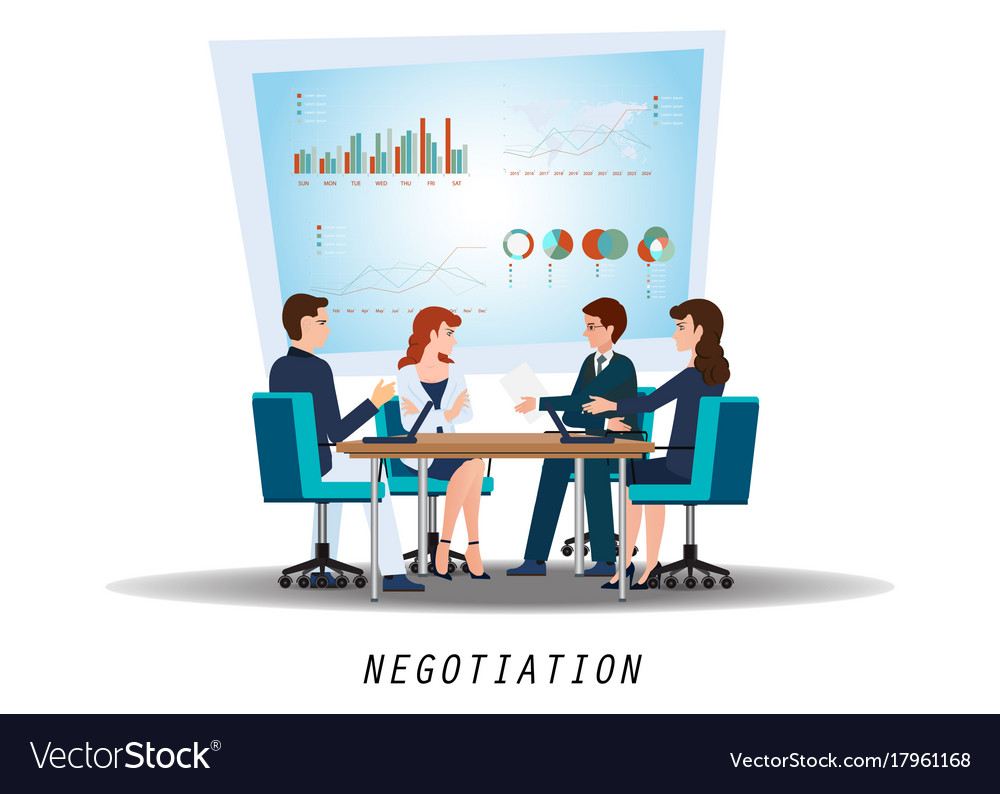 Group of business partners negotiating at meeting